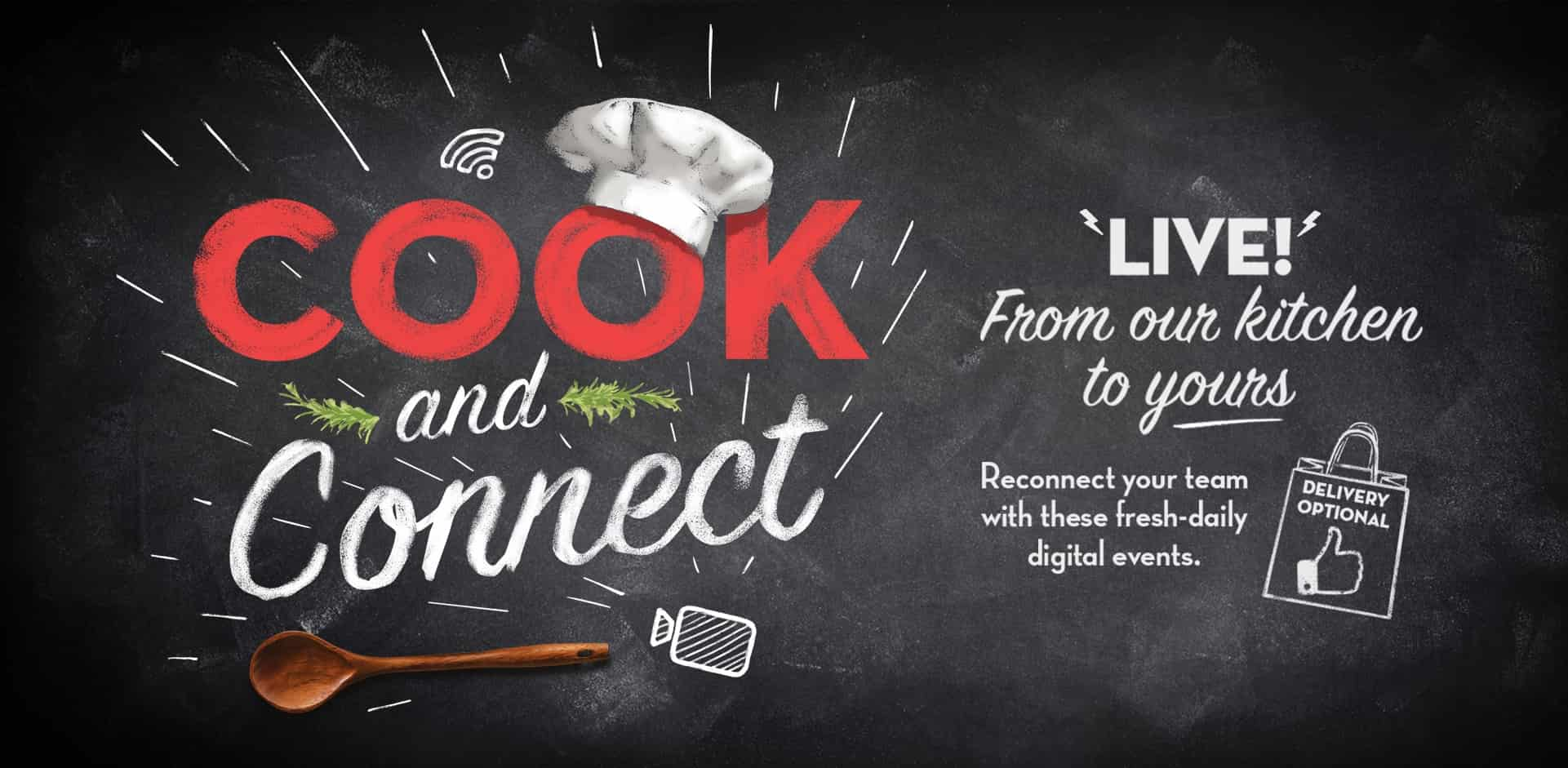 cook and connect digital interactive events